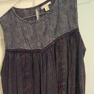 Blue jean colored dress